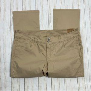American Eagle Tan Khaki Artist Crop Pants